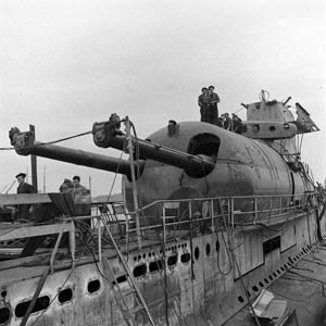 Surcouf was refitted in  Portsmouth, New Hampshire in 1941 and returned to service with Free French forces.  The submarine sank in February 1942, following a collision with an American cargo vessel.