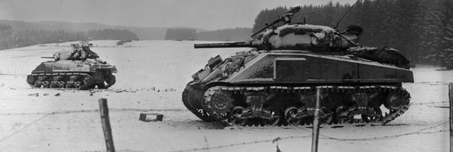 American M4 Sherman tanks.