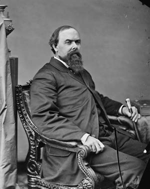 Indiana Governor Oliver Morton.