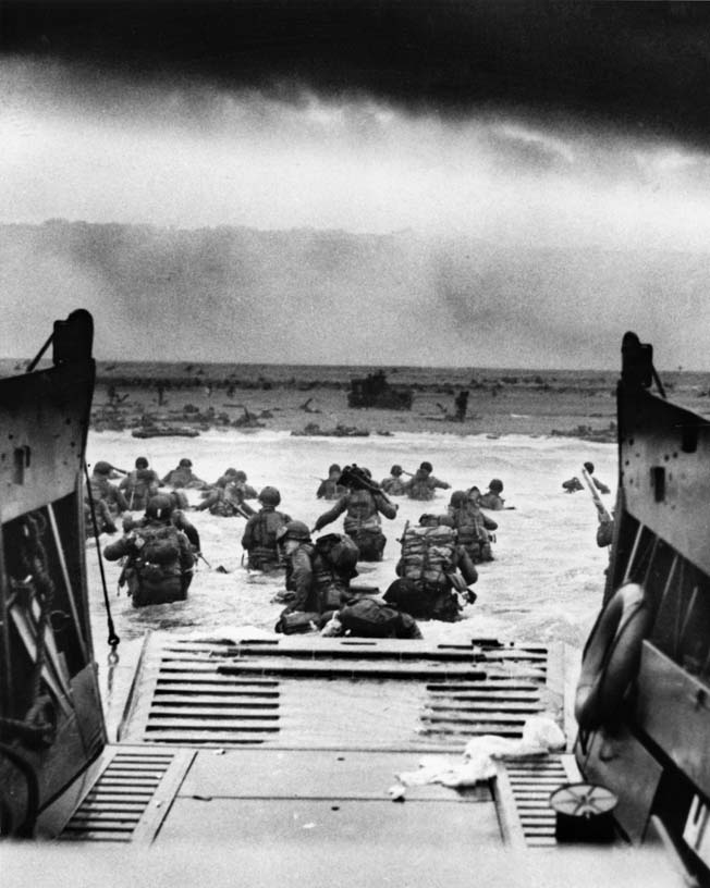 This limited edition print depicts the men of Company E as they made their iconic approach onto Omaha Beach in the early morning of June 6.