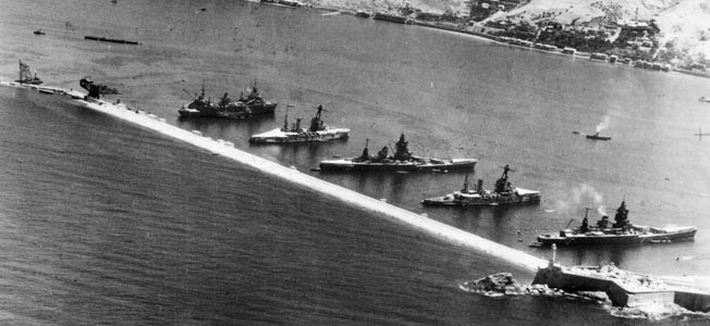 When France surrendered in June 1940, a fearful Churchill's severe solution was Operation Catapult and an attack on French ships at Mers-el-Kébir.