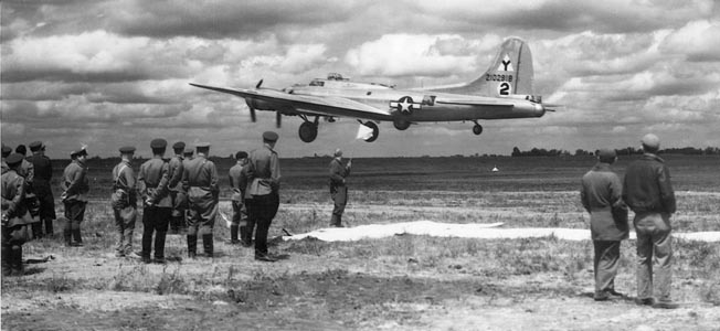 During Operation Frantic on the Eastern Front, American bombers used Soviet bases for shuttle runs against the Axis targets.