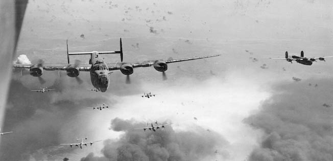 In 1943 during Operation Tidal Wave, American bombers attacked Romanian oil fields, which were vital to the Nazi war machine.