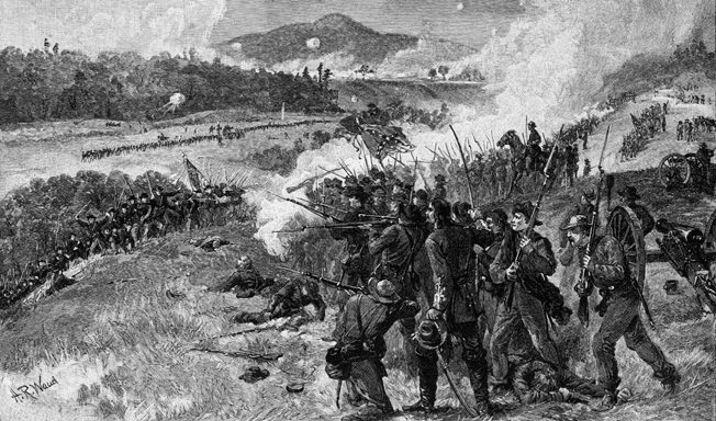 At the Battle of Resaca, Georgia, on May 14, 1864, the brigade suffered severe losses from Union artillery. Lieutenant Thomas McLean was among those killed.