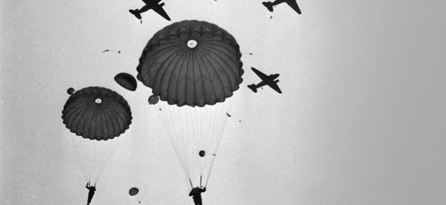 The First Canadian Parachute Battalion jumps to victory on D-Day June 6, 1944.