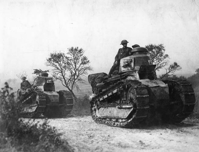Fiery young officer George S. Patton rode into action in World War I at the head of the U.S. Army's brand-new Tank Corps.
