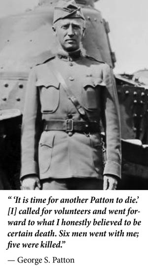 General Patton in World War I.