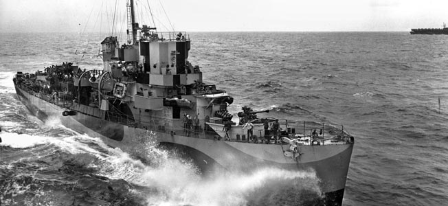 One American Destroyer escort group's 12-day fight changed the course of World War II in the Pacific.