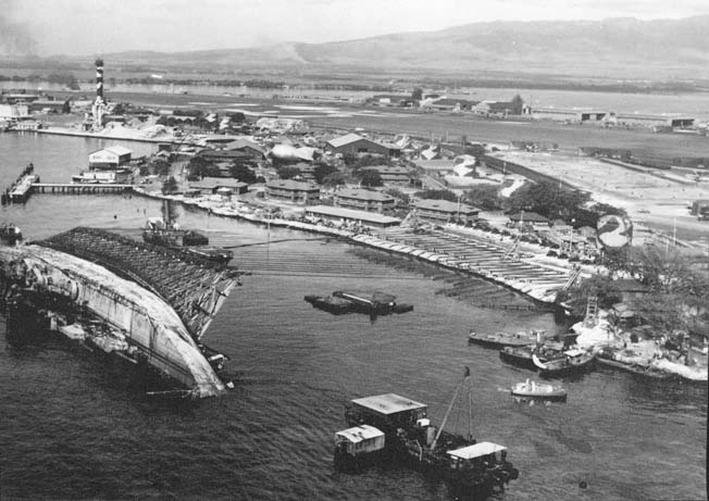 The Pearl Harbor salvage effort following the Japanese attack on Pearl Harbor was an epic of skill, bravery, and ingenuity.