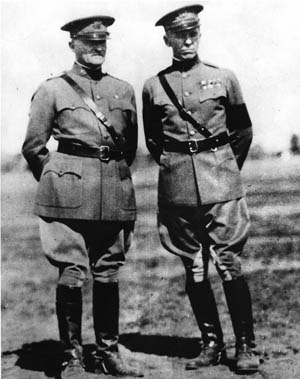 During and after World War I, General George  C. Marshall maintained a close relationship with General John Pershing, commander of the  American Expeditionary Force in Europe.