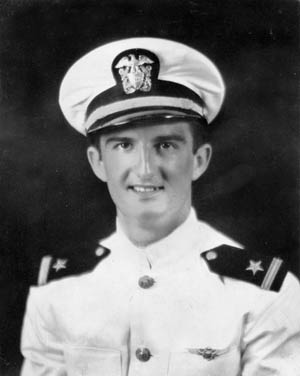 SB2C Helldiver pilot Bill Klenk shortly after receiving his ensign's commission and naval aviator's wings in June 1943.