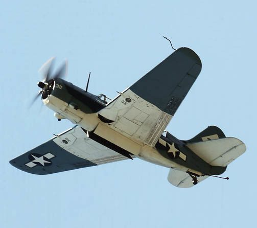 Today's only airworthy SB2C Helldiver, seen in an air display at Marion, Ohio in 2013.