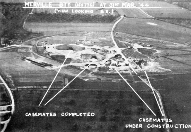 This aerial view provides some understanding of the tremendous task faced by the Allied paratroopers who assaulted the formidable Merville Battery on D-Day, June 6, 1944. Troopers of the 1st Canadian Parachute Battalion were to support the capture of the battery.