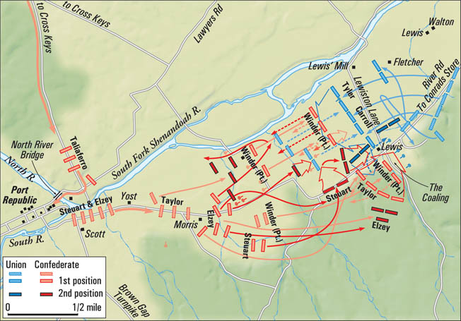 Jackson discerned that the key to victory at Port Republic was the capture of the Union guns at the Coaling. Once the Southerners had silenced the guns, Brig. Gen. Erastus B. Tyler's attack quickly unraveled.