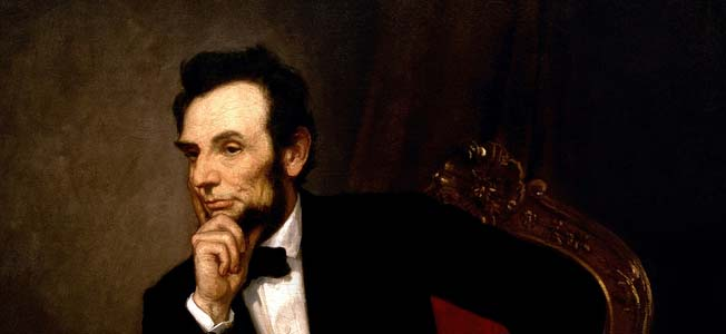 The 16th U.S. President, Abraham Lincoln guided the nation during the turbulent years of the American Civil War years.