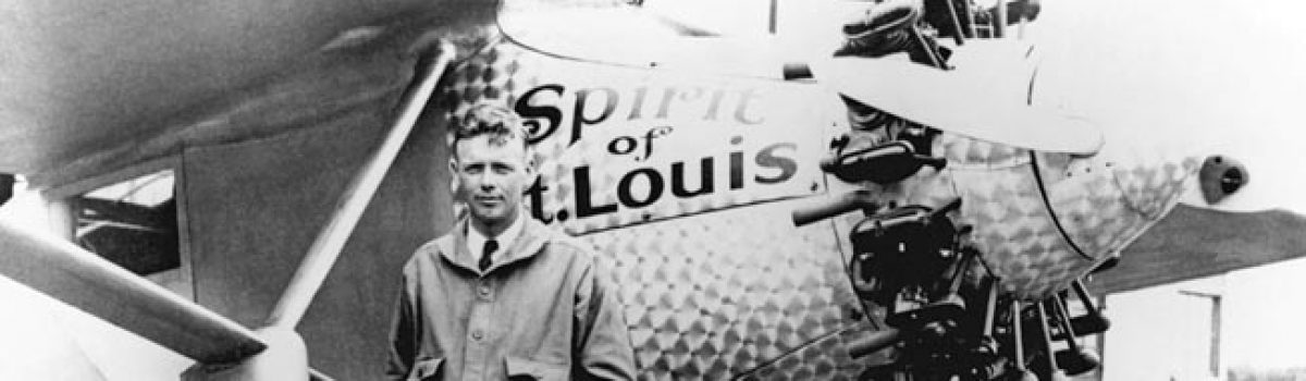 Joe Foss and Charles Lindbergh