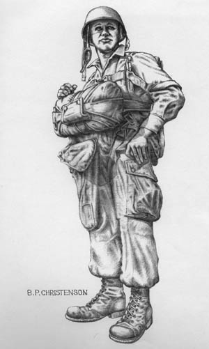 One of Pat Christenson's wartime drawings.