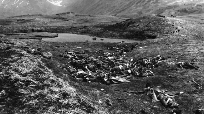 Unable to dislodge the Americans on Attu, the Japanese attempted a do-or-die final banzai charge on May 29, 1943. Mass casualties were the result.