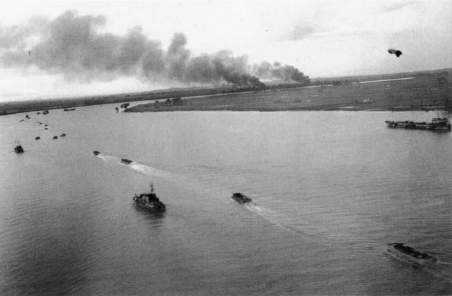 During Operation Dracula, an amphibious force of elements from the 26th Indian Division moved up the Rangoon River to take the city on May 3. By then the Japanese had pulled out of the city.