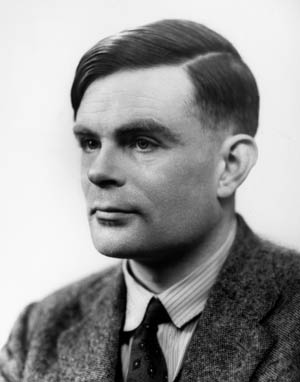 British mathematician and cryptanalyst Alan Turing, who spearheaded efforts to break the German naval code, pictured in 1951.