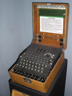 "Example of a German ""Enigma"" encrypting/decrypting machine."