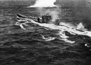 Thanks to the breaking of the naval code and inventions such as sonar, the German U-boat menace began to be reduced.