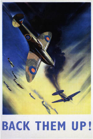 British wartime poster celebrating the achievement of Hugh Dowding's RAF Fighter Command during the Battle of Britain.