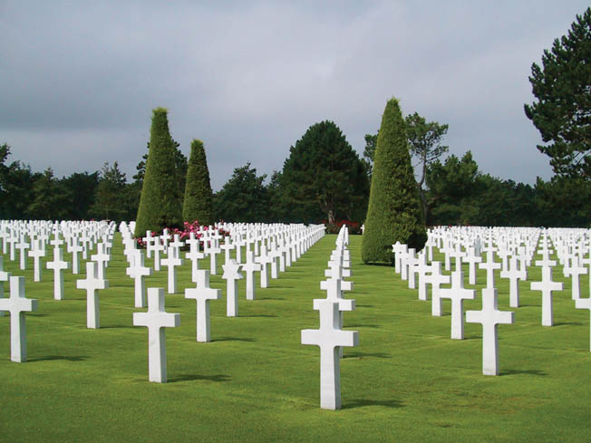 The Normandy American Cemetary and Memorial at Omaha Beach, near Colleville-sur-mer, France.