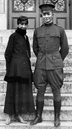 Second Lieutenant Eisenhower and his bride, Mamie Doud Eisenhower, in San Antonio, Texas, 1916, where he was assigned to the 19th Infantry Regiment at Fort Sam Houston.