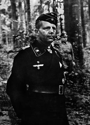 General der Panzertruppen Heinrich Eberbach, shown in France in July 1944, wanted to withdraw to avoid encirclement in western France but was ordered to hold fast.