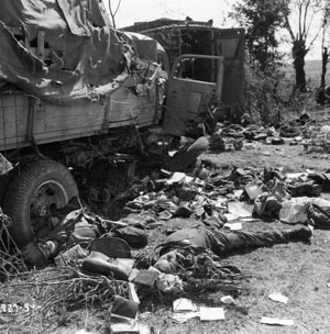 The German route of retreat in the Falaise Pocket was strewn with the dead bodies of soldiers and burned-out vehicles. Those who escaped were eager to withdraw to the safety of the West Wall on the German frontier.