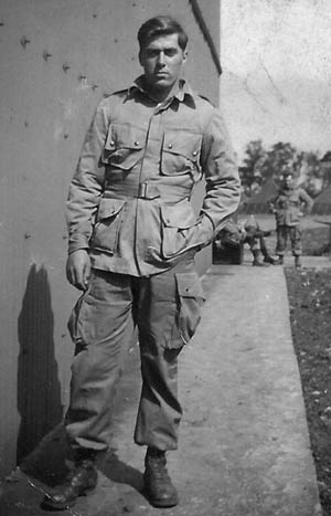 Private First Class Walter P. Leginski, H Company, 504th PIR, 82nd Airborne Division, photographed at his camp in England before Operation Market-Garden.