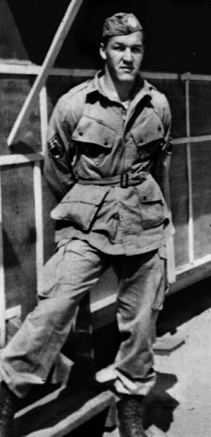Private Richard Reardon, H Company, 504th PIR, 82nd Airborne Division, fell out of the belly of the plane when it caught fire.