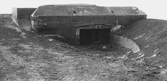 According to local residents, the German antiaircraft battery that shot down the Bette was located on, or near, this bunker on the Dutch coast.