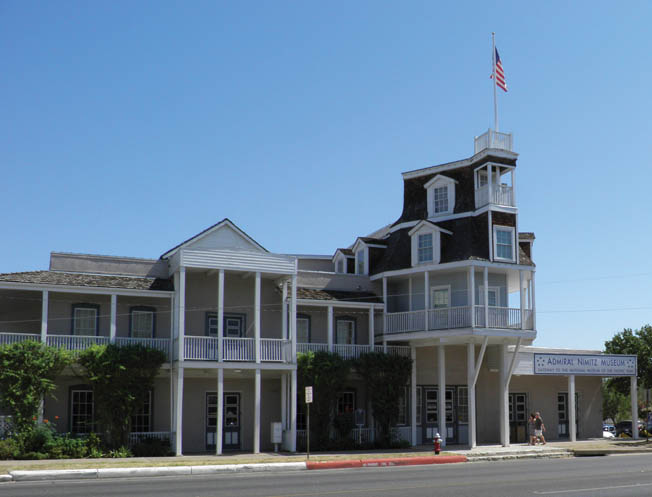 Exterior view of the Admiral Nimitz Museum (formerly a hotel) and a part of the National Museum of the Pacific War.