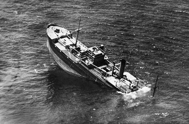 Italian supply vessel Pietro Querini, part of a convoy headed to Tripoli, sinks off of Tunisia after being torpedoed by the British submarine HMS Union.