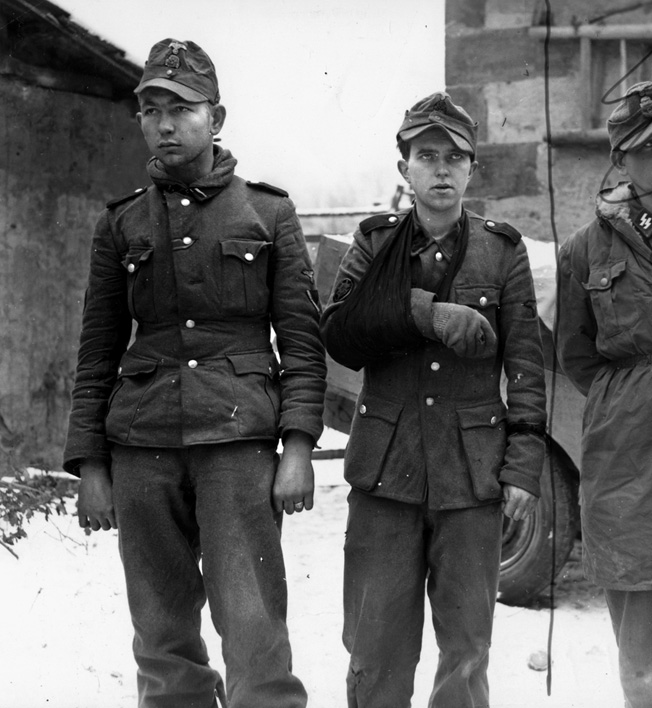 Young German prisoners captured by the Seventh Army.