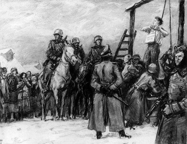 Execution of a  Partisan (Tanya).