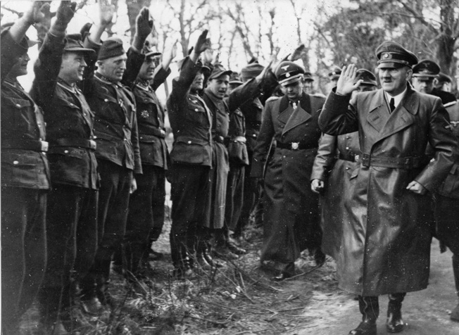 Judging by their expressions, Hitler and his men still exuded confidence when he visited the Oder front in March 1945. The Führer's faulty tactical decisions would doom his army on the Eastern Front.