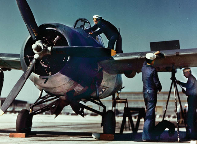 Navy ground crewmen performed yeoman service keeping the handful of Wildcats in flying condition, but it was a losing battle.