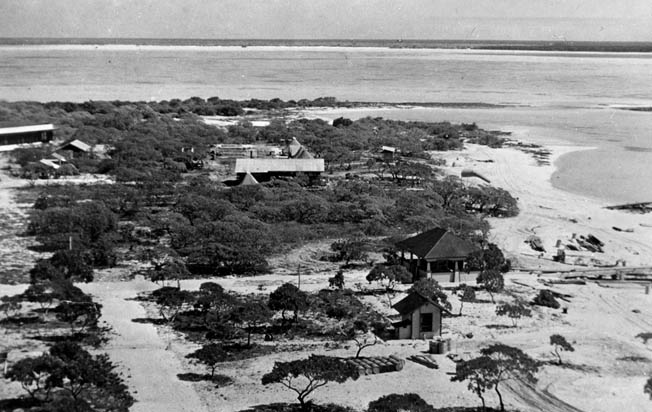 A view of Wake Island taken shortly before the Japanese attack on December 8, 1941.