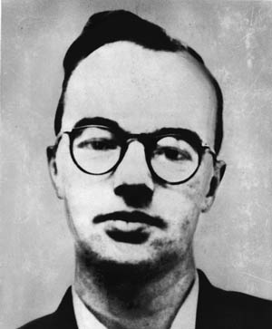 German-born Klaus Fuchs, British nuclear scientist who worked at Los Alamos, gave Soviets many A-bomb secrets.