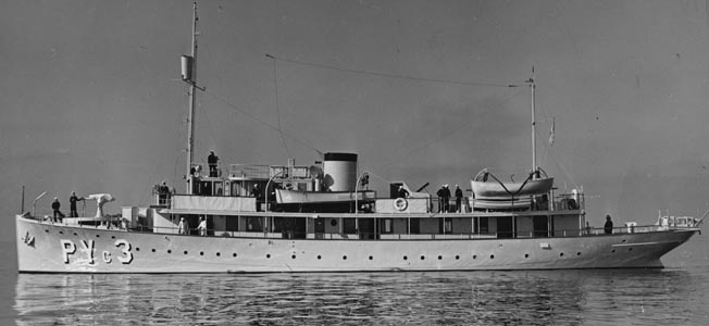 The patrol boat USS Amethyst dodged a torpedo and dropped depth charges on a sub near Los Angeles.