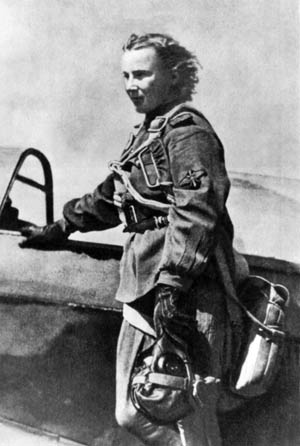 Lidiya Litvyak was the first female pilot to shoot down an enemy plane.