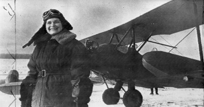 Yekaterina Krasnokutskaya flew an ambulance plane carrying Russian Army wounded.