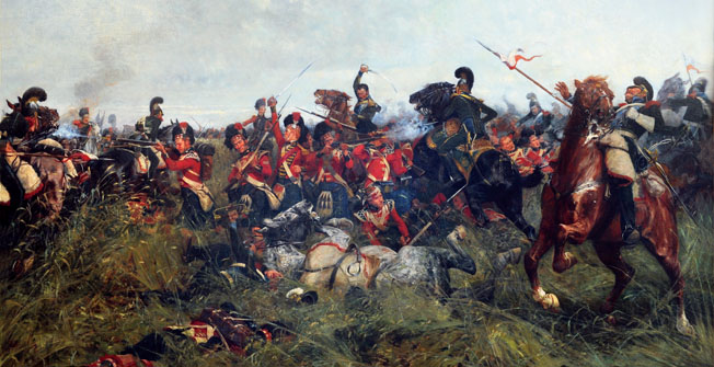 The stout-hearted Scots of the Black Watch only had time to form a partial square before the French Imperial Guard cavalry was upon them.