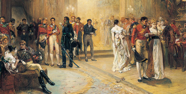 Lord Wellington and other Allied officers attended the Duchess of Richmond's ball in her Brussels home the night before the battle.