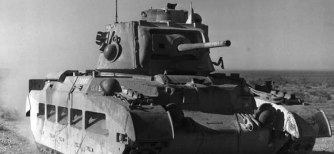 Early in World War II, the infantry 'Matilda' tank added weight to the Commonwealth units in North Africa.
