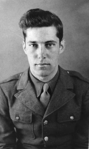Eighteen-year-old Private Ralph Puhalovich, photographed shortly after being inducted into the Army.