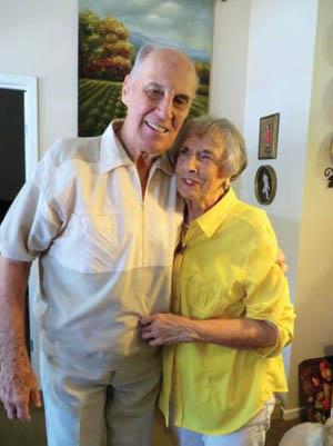 Ralph and Lousie Puhalovich photographed in 2015. They have been married since 1952.